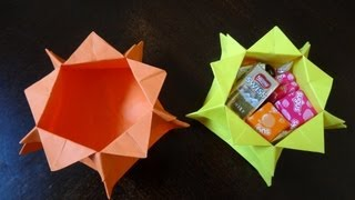 How to make star candy box with just a square paper( no glue)