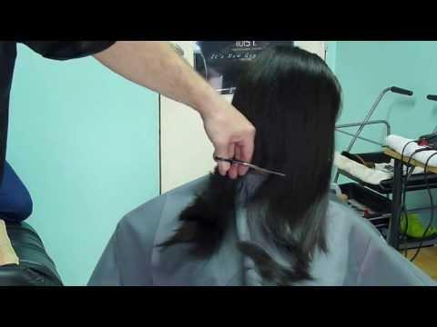 From long hair to bob cut