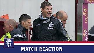 REACTION | Steven Gerrard | Motherwell 3-3 Rangers