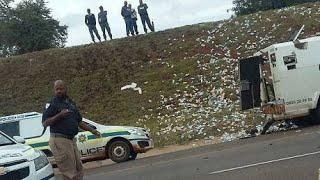 CRIME STOP : G4S Cash heist in Pretoria N4 | cash-in-transit | After the scene | Police C.I.A