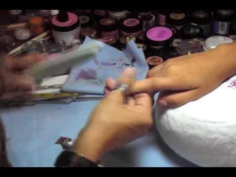 Como hacer un diseño de uñas de acrilico con 3D encapsulada 4ta parte