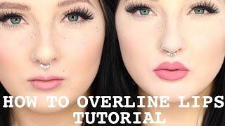 Overline Lips Tutorial | Kylie Jenner Lips | Jordan Hanz