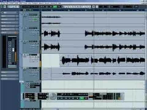 Editando e afinando voz