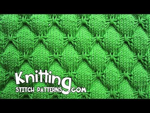 Flat Knot Knitting Stitch : (Hexagonal ) - Embossed Patterns - Free Knitting Patterns Tutorial - Watch Kn...