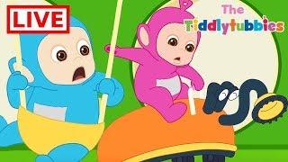 Teletubbies LIVE ★ NEW Tiddlytubbies 2D Series ★ Episodes 1-4 Tiddlytubbies Party★ Cartoon for Kids