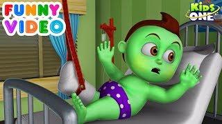 GREENY KIDDO Hospitalized | Funny Video for Children - KidsOne