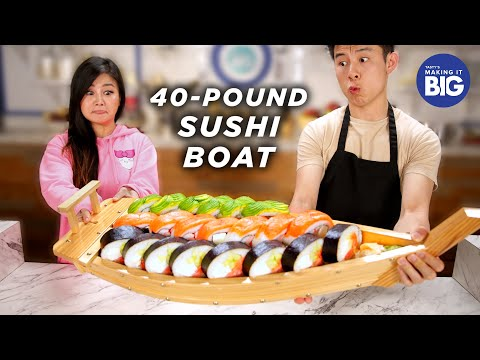 I Made A Giant 40 Pound Sushi Boat For A Mukbang Artist • Tasty