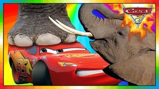 Cars 3 ★★ 2017 ★★ Mini Movie Animation 06 ★★ McQueen meets ELEFANT ★★ ( funny ) ★★
