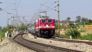 BRIGHT RED WAP 4 leads Sangamitra Superfast Express - Indian Railways