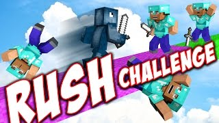 THE RUSH CHALLENGE in BEDWARS!! - Minecraft Mini Game