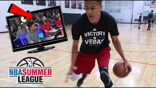I WAS ON TV! MY NBA SUMMER LEAGUE PRACTICE!