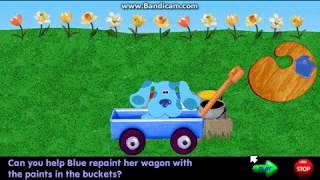 Blue's Clues - Paint Blue's Wagon (1999 Shockwave Game)
