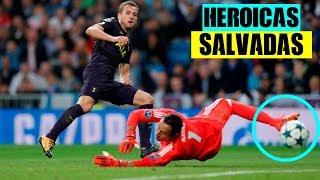 Sorprendentes y Heroicas Salvadas de Gol en el Fútbol●HD||Heroic Saves on the Line