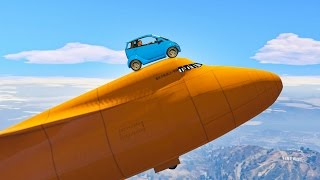 DRIVING CARS ON JETS! (GTA 5 Funny Moments)