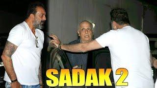 Sanjay Dutt Discussing Story Of Sadak 2 Movie With Mahesh Bhatt