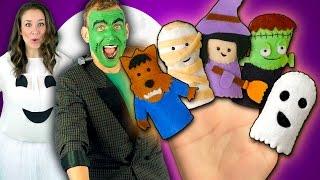 Halloween Finger Family Song   Monster Finger Family Nursery Rhymes
