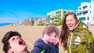 🌊Teleported to the Beach in Snow Suits! 😱