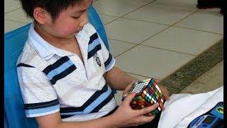 Chan Hong Lik 5 yrs old solves 7x7 rubik's cube