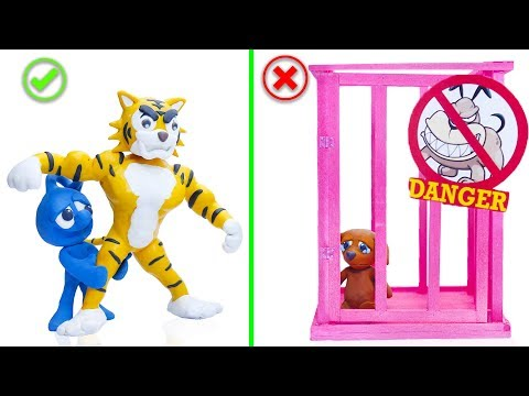 CLAY MIXER REGRETING LIFE OF PETS 💖 Play Doh Cartoons For Kids