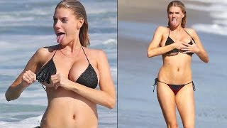 Celebrity Scandal Videos - Charlotte McKinney Bikini Fall Down !!