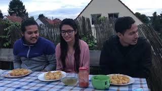 Pani Puri with extra chilli challenge | nepali | in Germany