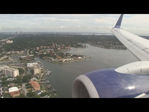Delta Airlines B737 Landing Tampa International Airport