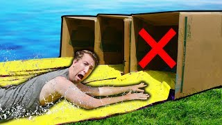 DO NOT Water Slide through the Wrong Mystery Box!!