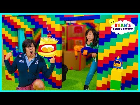 24 hours in the giant lego box fort house challenge