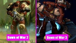 Dawn Of War 2 Units vs Dawn Of War 3 Visual Comparison