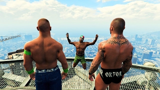 GTA 5 Randy Orton John Cena RKO Mod!(GTA V Brutal kill Funny moments)