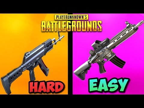 Top 5 HARDEST Guns To Use in PUBG! - (and how to use them) PlayerUnknownsBattlegrounds