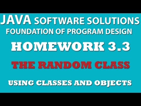 3-3 Java: Using Random Class - Classes and Objects