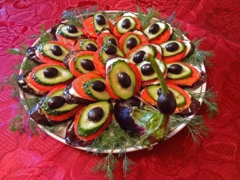 Украшаем салаты, нарезка фото