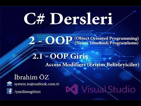 C# Dersleri 2 - OOP (Nesne Yönelimli Programlama) 2.1 - OOP Giriş