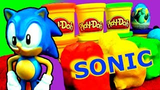 Play Doh Surprise Eggs SEGA Sonic The Hedgehog Jake Neverland Pirates Peppa Pig Monsters Zombies Toy