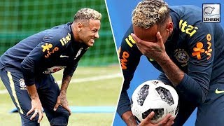 Neymar Walks Out Of Brazil Training Session Limping! New Injury? | Fifa 2018