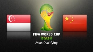 Singapore Vs China PR: 2014 FIFA World Cup Asian Qualifiers - (Round 3, Match Day 5)