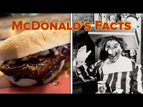 about mcdonalds The original mcdonald's featured a hickory pit and served barbecued beef, ham, and pork, along with chili, tamales, and even peanut butter and jelly.