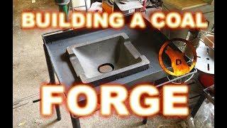 Blacksmith Builds a Portable Coal Forge