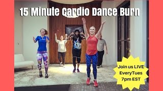 15 Minute LIVE Dance Fitness Workout TEASER! Tone Up Abs, Arms, and Booties too!