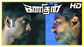 Kanithan Tamil movie | Scenes | Atharva saves Karunakaran | Tarun locates camera at his consultancy