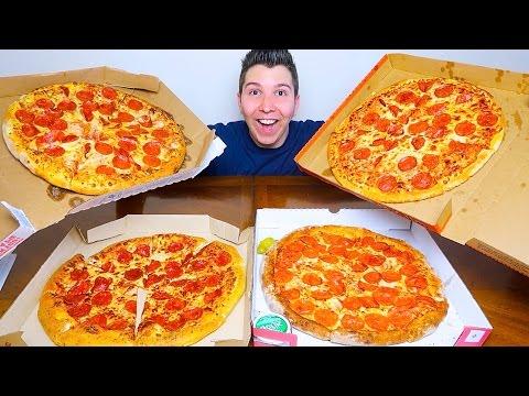 Pizza Hut vs. Domino s vs. Papa John s vs. Little Caesars • PIZZA TASTE TEST