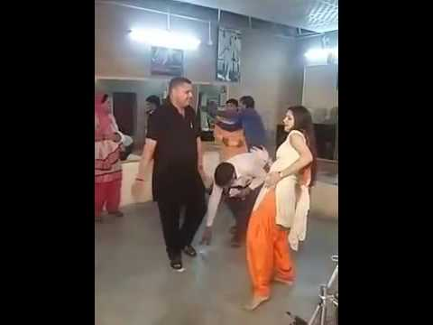 sapna dance.. boys touch his private part...in private party video viral