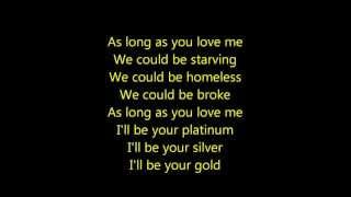Justin Bieber- As Long As You Love Me Acoustic Lyrics HD