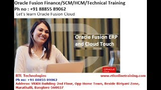 BI Report Customization Oracle Fusion Finance/SCM/HCM/Technical Training Phno:+91 88855 89062
