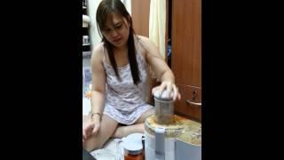 Pineapple, orange and carrot juicing... (^_^)