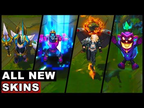 All New Battle Boss Pentakill Lancer Zero Skins Ziggs Malzahar Kayle Brand Hecarim (LoL)
