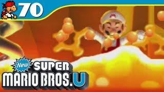 New Super Mario Bros. U | Rising Tides of Lava - Peach's Castle-3 - 70 (Wii U Gameplay Walkthrough)