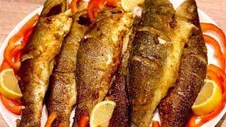 Sea  Bass Fried Fish/ ماهی سرخ کرده