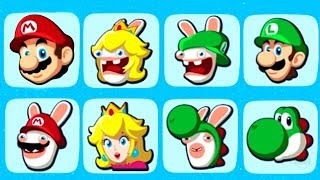Mario + Rabbids Kingdom Battle - All Characters / Secret Characters & All Gameplay Animations